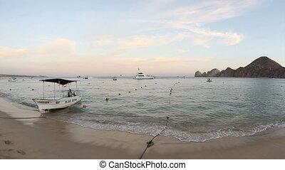 medano beach in cabo san lucas, baja california sur mexico