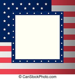 medborgare, amerikan flagga, bakgrund, ram