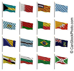medborgare, b, flaggan