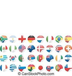medborgare, flaggan, land
