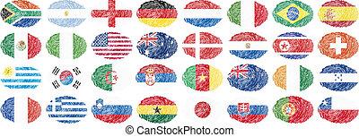 medborgare, flaggan