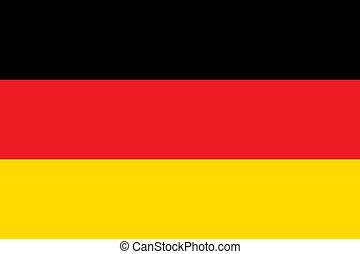 medborgare, tyskland flagg