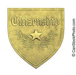 medborgarskap, guld, skydda