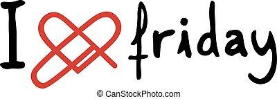 meddelande, fredag, kärlek