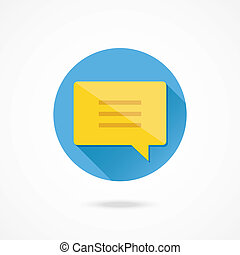meddelande, vektor, pratstund, ikon