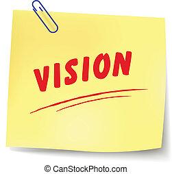 meddelande, vektor, vision