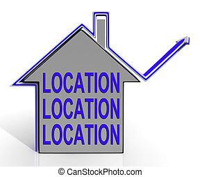 medel, Hus, område, idealisk, lokalisering, Hem, bäst