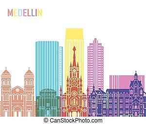 Medellin skyline pop