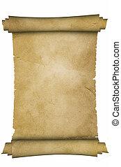 medeltida, parchment.