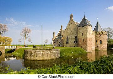 medemblik, kasteel, netherlands, radbound
