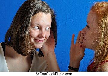 medeplichtigheid, tussen, twee, tieners
