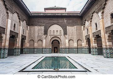 medersa, marrakech, yussef, ben, marruecos