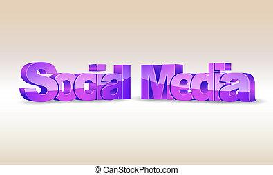 media, 3d, parola, sociale