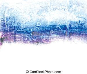 media, abstrakt, akryl, blanda, bakgrund, målning
