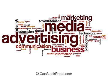 Media advertising word cloud