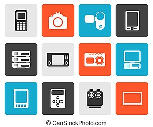 media and electronics icons