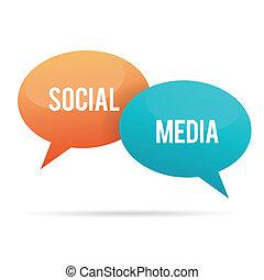 media, bolla, chiacchierata, sociale