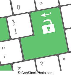 media, bottone, sociale, tastiera
