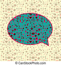 Media buble talk - This image is a vector illustration and...
