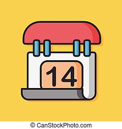 media calendar vector icon