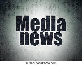 media, carta, fondo, digitale, notizie, dati, concept: