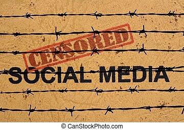 media, cenzurowany, towarzyski