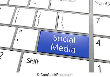 media, chiave, sociale