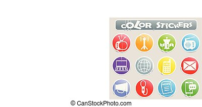 media color stickers