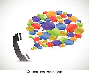 media communication phone concept