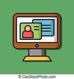 media computer vector icon