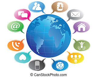 media, concept-communication, globo, sociale