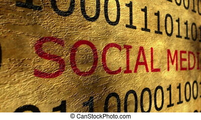 media, concept, grunge, sociaal