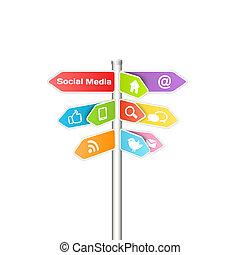 media, concept, networking, sociaal