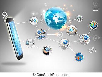 media, concept., sociaal
