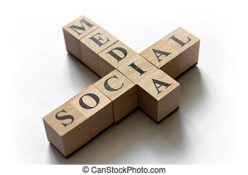 media, concept, sociaal