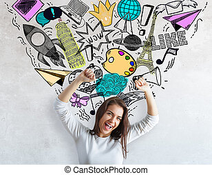media, concetto, creatività, sociale