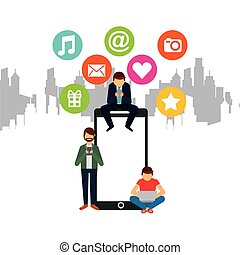 media, disegno, sociale
