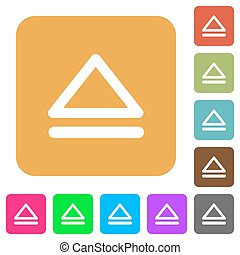 Media eject rounded square flat icons