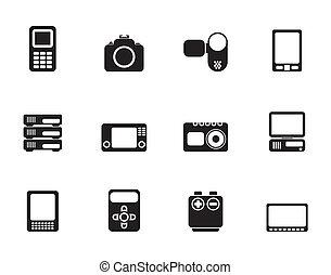 media electronics icons