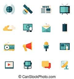 Media Flat Icons Set