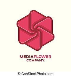 Media flower logo
