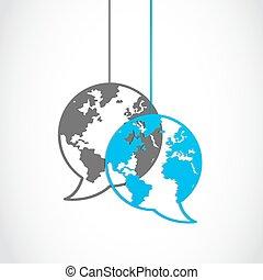 media, globo, dialogo, sociale