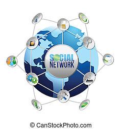 media, globo, rete, sociale