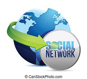 media, globo, sociale