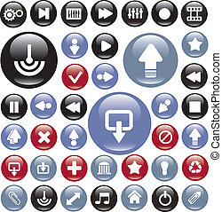 media glossy buttons