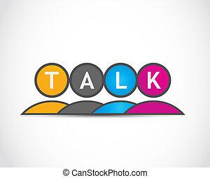 media, groep, praatje, sociaal