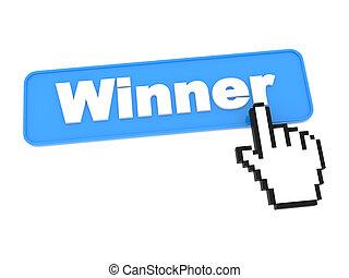 media, guzik, zwycięzca, -, towarzyski