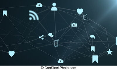 media, icone, creare, uno, plexus.