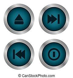 media, icone
