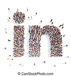 media, icons., forma, persone